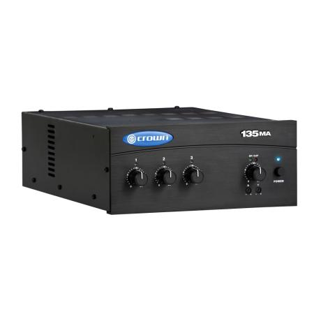CROWN MIXER AMPLIFIER 3 INPUTS 35W 8Ω/100V 1 ZONE 1