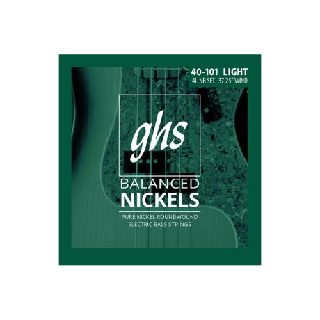 GHS BASS STRINGS BALANCED NICKELS LIGHT 040-101 1