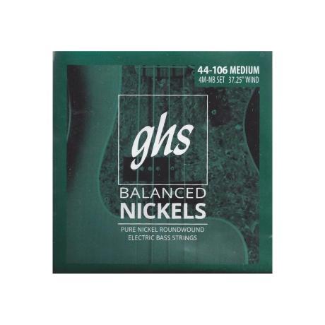 GHS BASS STRINGS BALANCED NICKELS MEDIUM 044-106 1