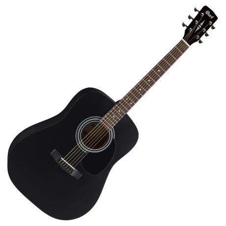 CORT ACOUSTIC GUITAR AD810 DREADNOUGHT BLACK SATIN 1