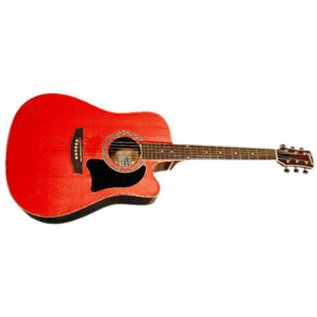 GARRISON ELECTRIC ACOUSTC GUITARTREADN. GATAWAY ELEC RED
