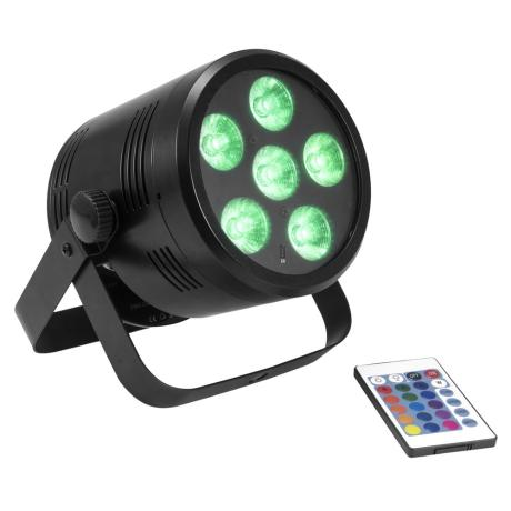 EUROLITE BATTERY-POWERED LED SPOTLIGHT WITH RGBW COLOR MIXING, INCL. IR REMOTE CONTROL 1