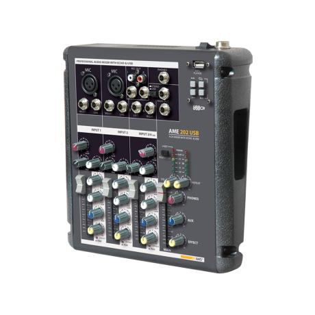 AMS MIXING CONSOLE 4 CH WITH USB & ECHO EFFECT 1