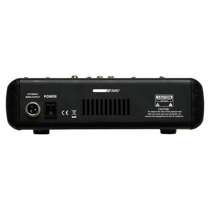 AMS KΟΝΣΟΛΑ ΗΧΟΥ 6 ΚΑΝΑΛΙΩΝ ΜΕ USB & ECHO EFFECT 2