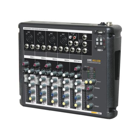 AMS MIXING CONSOLE 6 CH WITH USB & ECHO EFFECT 1