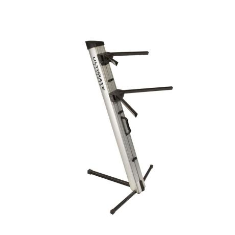 ULTIMATE TWO-TIER PORTABLE COLUMN KEYBOARD STAND (SILVER) 1