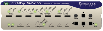 ENSEMBLE DESIGN 3G/SD/HD SCAN CONVERTER