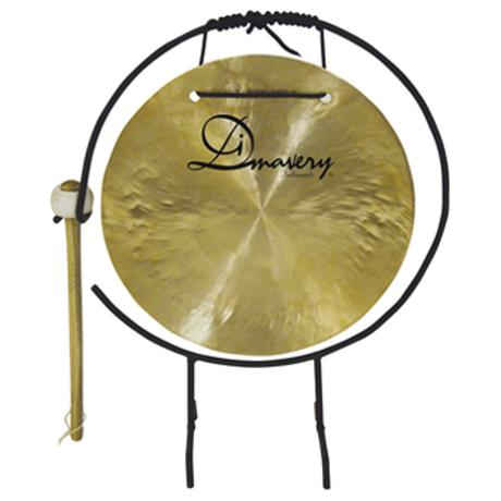 DIMAVERY GONG 25CM WITH STAND/MALLET