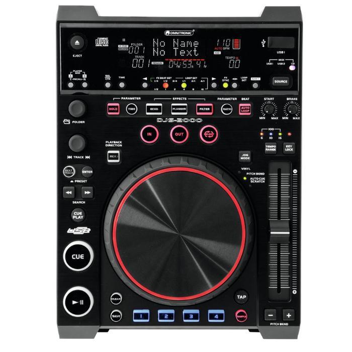 OMNITRONIC MEDIA PLAYER & MIDI CONTROLLER 1
