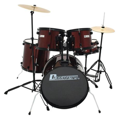 DIMAVERY DS-200 DRUM SET WINE RED 1