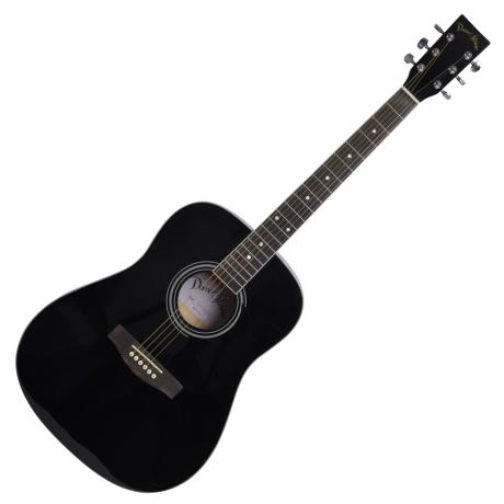 "DARESTONE ACOUSTIC GUITAR 41"" GLOSS BLACK"