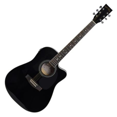 "DARESTONE ELECTROACOUSTIC GUITAR CN 41"" CUT/EQ GLOSS BLACK"