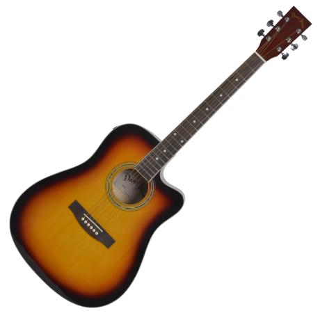 "DARESTONE ELECTROACOUSTIC GUITAR CN 41"" CUT/EQ GLOSS SUNBURST 1"