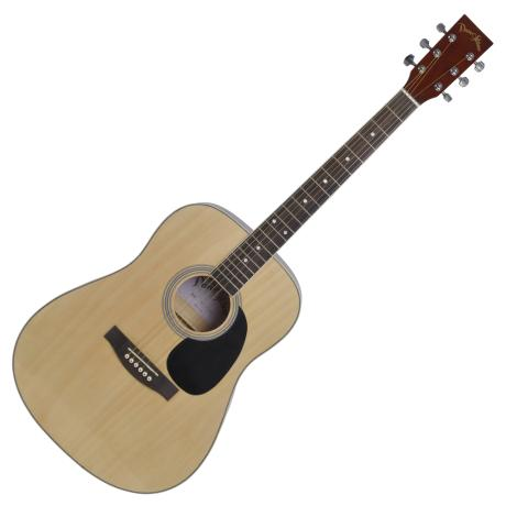 "DARESTONE ACOUSTIC GUITAR 41"" SATIN GLOSS NATURAL"