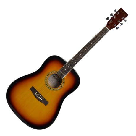 "DARESTONE ACOUSTIC GUITAR 41"" GLOSS SUNBURST"