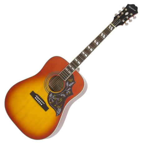 EPIPHONE E/ACOUSTIC GUITAR HUMMINGBIRD PRO FADED CHERRY