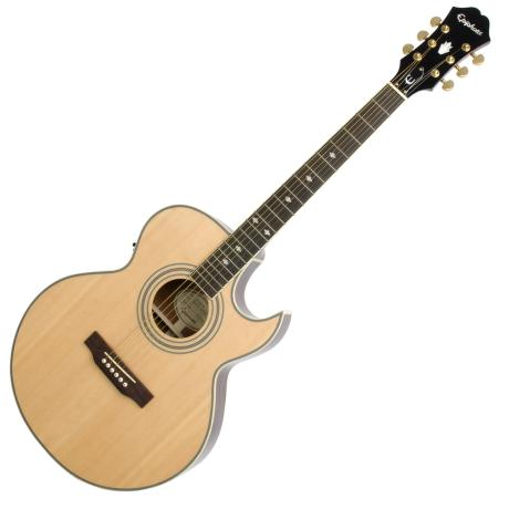 EPIPHONE ELECTRIC ACOUSTC GUITAR PR5E NATURAL LTD EDITION