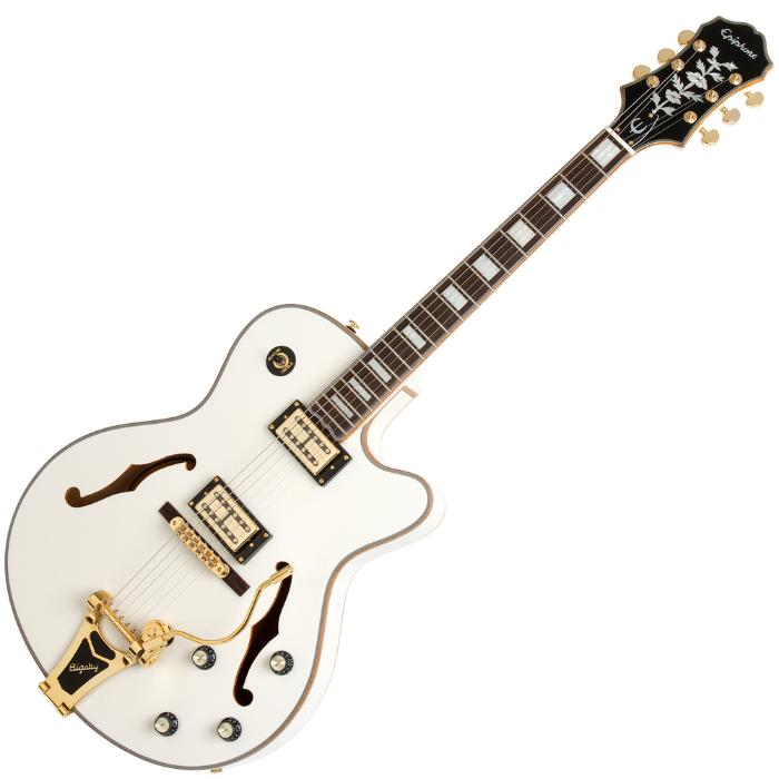 EPIPHONE ELECTRIC GUITAR EMPEROR SWINGSTER WHITE ROYALE 1