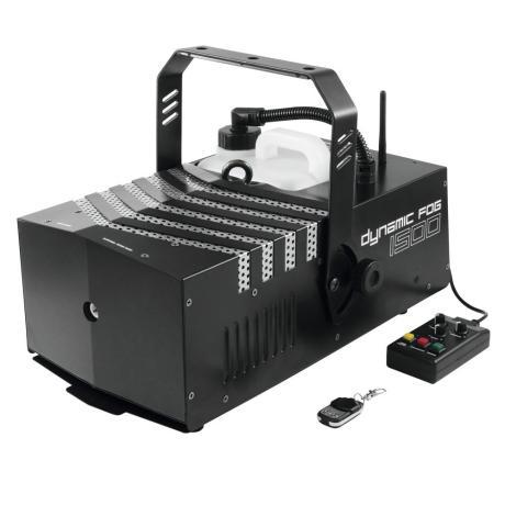 EUROLITE DMX FOG MACHINE WITH 1500 W POWER, ADJUSTABLE OUTPUT ANGLE, TIMER AND REMOTE
