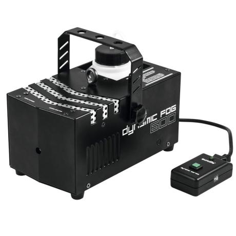 EUROLITE COMPACT FOG MACHINE WITH 600 W POWER AND CABLE REMOTE CONTROL