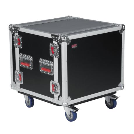 GATOR SHOK AUDIO ROAD RACK CASE 8U WITH CASTERS 1