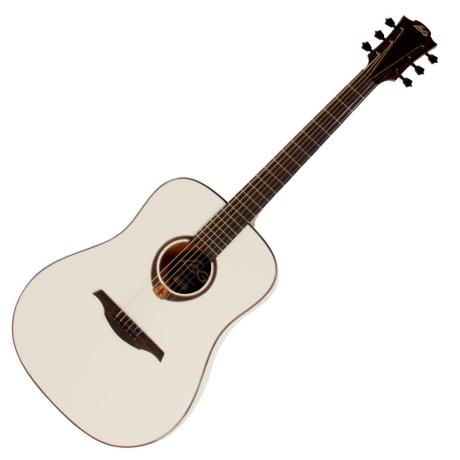 LAG ACOUSTIC GUITAR DREADNOUGHT IVORY