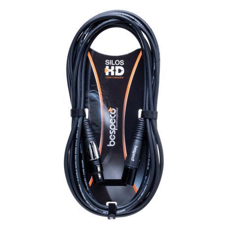 BESPECO SILOS HD MIC CABLE 3M BLK XLR-XLR ΜΙΚΡ. ΚΑΛΩΔΙΟ 1