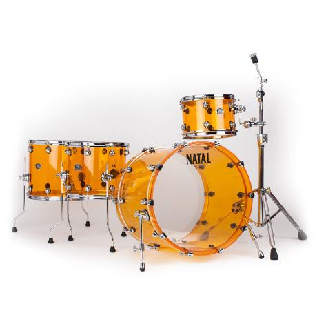 NATAL ARCADIA ACRYLIC DRUM SET 22' ORANGE 1