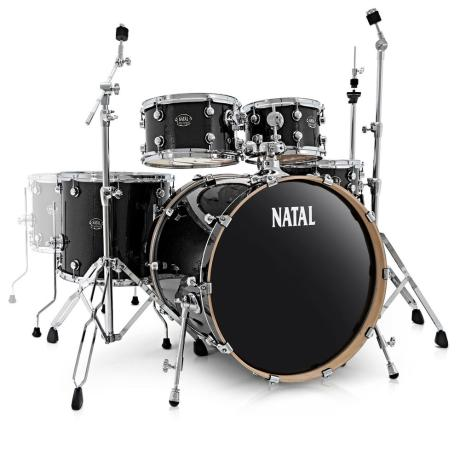 NATAL ARCADIA FUSION DRUM SET BLACK 1