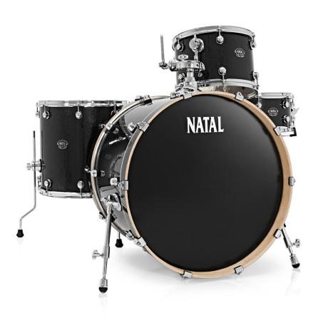NATAL ARCADIA ROCK DRUM SET ,BLACK 1
