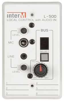 INTER-M LOCAL CONTROL WITH AUDIO IN