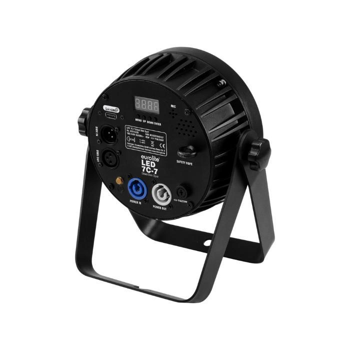 EUROLITE LED PAR 7X9W ΦΩΤΙΣΤΙΚΟ SPOT RGBA/CW/WW+UV 7/1 2