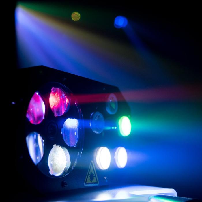EUROLITE LED ΦΩΤΙΣΤΙΚΟ EFFECT FLOWER & RG LASER 5