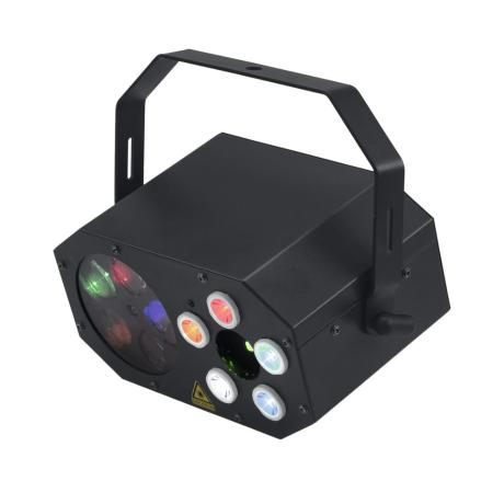 EUROLITE SMALL PARTY LIGHT EFFECT WITH LED FLOWER, RG LASER (2M) AND STROBOSCOPE 1