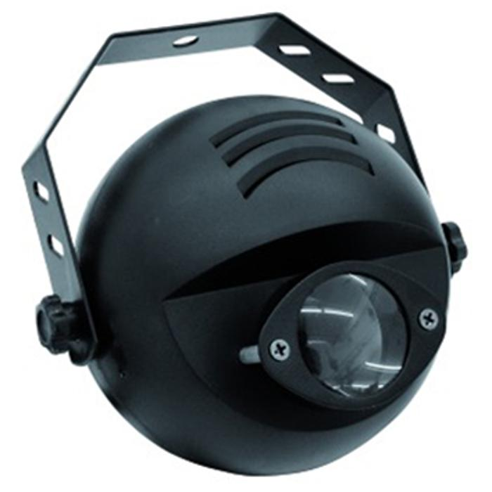 EUROLITE NARROW-BEAM PINSPOT WITH 9 W 3IN1 LED IN RGB AND DMX 1