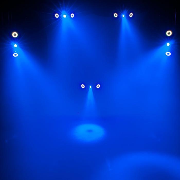 EUROLITE LED HYBRID ΦΩΤΙΣΤΙΚΟ BEAM RGBAW+UV 5X10W+50X0,2W 3