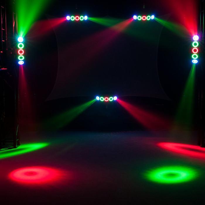 EUROLITE LED HYBRID ΦΩΤΙΣΤΙΚΟ BEAM RGBAW+UV 5X10W+50X0,2W 4