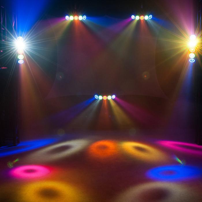 EUROLITE LED HYBRID ΦΩΤΙΣΤΙΚΟ BEAM RGBAW+UV 5X10W+50X0,2W 5