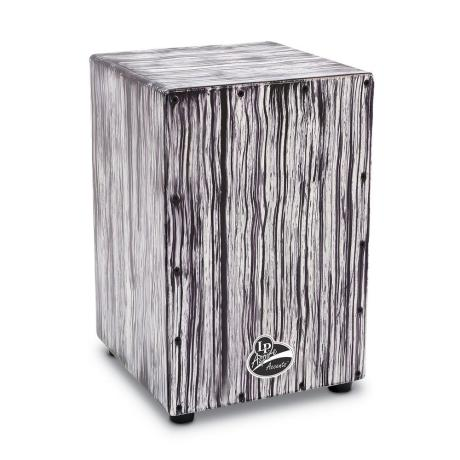 LATIN PERCUSSION ASPIRE ACCENT CAJON WHITE STREAK 1