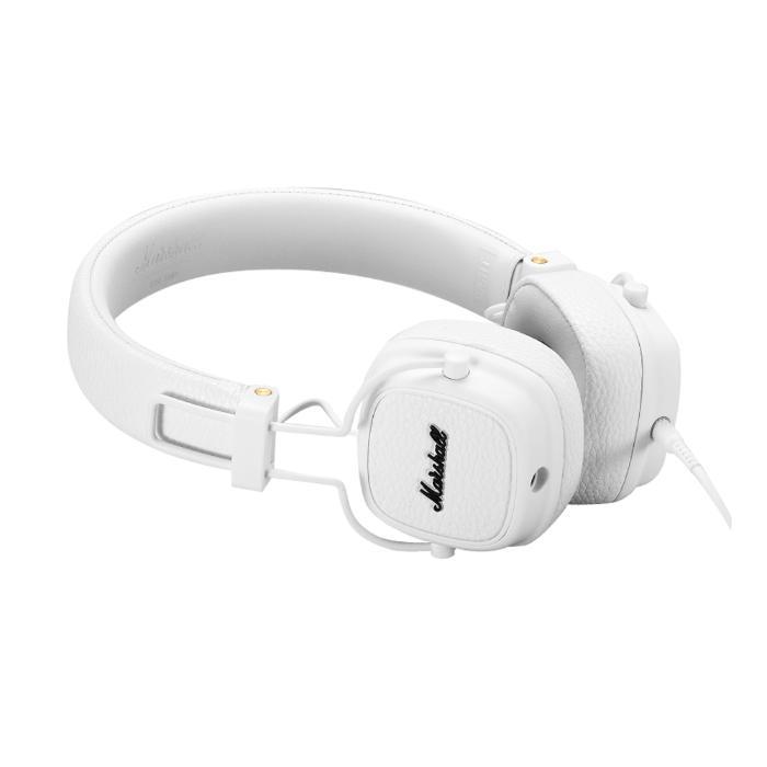 MARSHALL FOLTABLE HEADPHONES CLOSED-BACK DESIGN+MIC WHITE 1