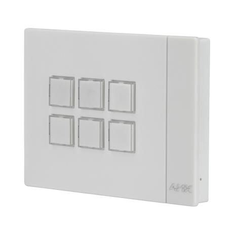 AMX Massio 6-Button Eth.Keypad, Landscape, White 1