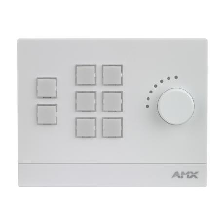 AMX Massio 8-Button Ethernet Keypad, Landscape, White 1