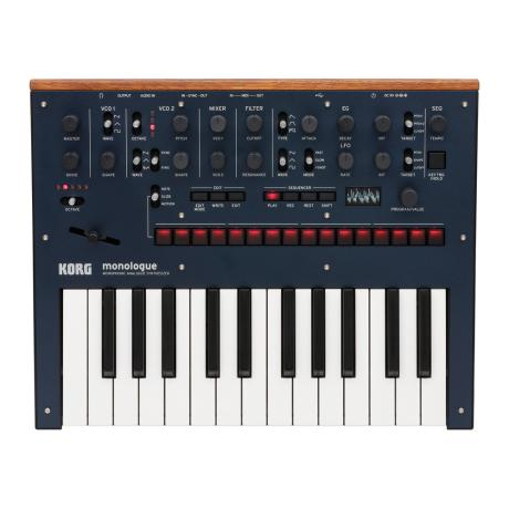 KORG MONOPHONIC ANALOG SYNTHESIZER BLUE 1