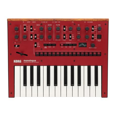 KORG MONOPHONIC ANALOG SYNTHESIZER RED