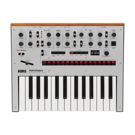 KORG MONOPHONIC ANALOG SYNTHESIZER SILVER 1