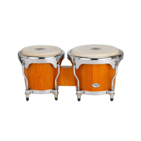 NATAL WOOD BONGOS CHROME HARDWARE MATT HONEY