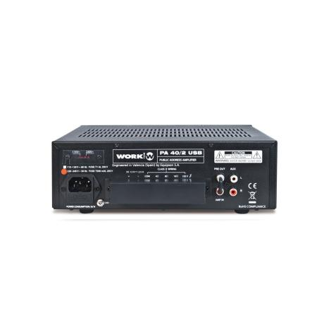 WORK MIXER AMPLIFIER 3 INPUTS 15W WITH USP PLAYER 1
