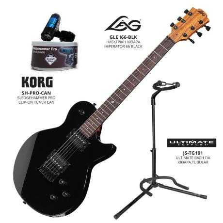 LAG ELECTRIC GUITAR I66+STAND+CLIP-ON TUNER 1
