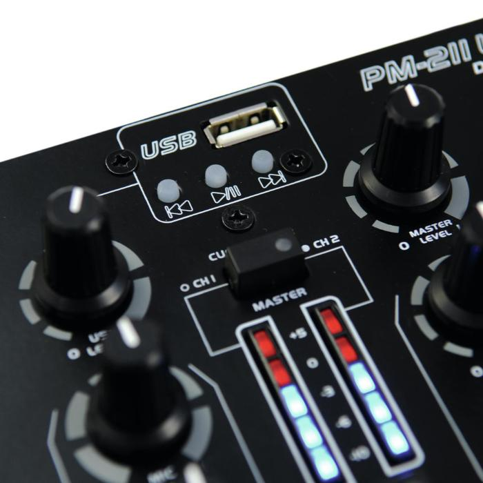 OMNITRONIC DJ MIXER 2 CHANNEL WITH MP3 PLAYER 3