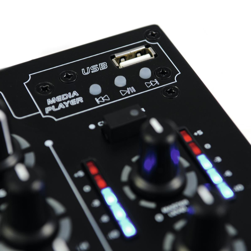 OMNITRONIC DJ MIXER 3 CHANNEL WITH MP3 PLAYER